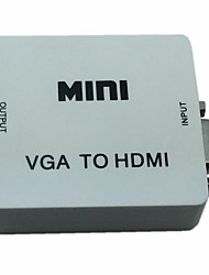 economico -mini vga Audio a HDMI 1080p adattatore convertitore con potenza usb audio per pc d