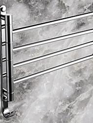 abordables -Barre porte-serviette Moderne Laiton 1 pièce - Bain d'hôtel Barre à 4 serviettes