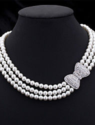 cheap -U7®High Quality Synthetic Pearl Beads Luxury Women's Fancy Choker Collar Necklace Jewellery Gift for Women