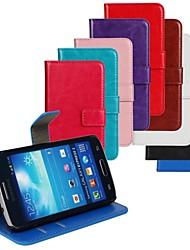 tanie -Kılıf Na Samsung Galaxy Samsung Galaxy Etui Etui na karty / Z podpórką / Flip Pełne etui Solidne kolory Skóra PU na Express 2