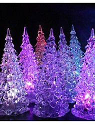 Crystal Christmas Tree Colorful Night Light Lamp for Christmas Decoration