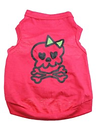 cheap -Cat Dog Shirt / T-Shirt Dog Clothes Heart Skull Rose Cotton Costume For Pets