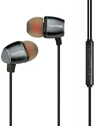 cheap -PLEXTONE® In-Ear Metal Heavy Bass Earphone with Mic and Compatibe for iPhone/iPad/PC