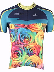 ILPALADINO Cycling Jersey Men's Short Sleeves Bike Top Quick Dry Ultraviolet Resistant Breathable 100% Polyester Nature & Landscapes