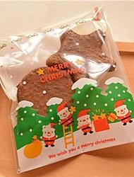 Недорогие -10 шт белый отец рождественский подарок мешок