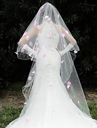 Wedding Veil One-tier Headpieces with Veil Beaded Edge 110.24 in (280cm) Organza
