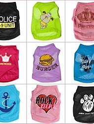 Chat Chien Tee-shirt Vêtements pour Chien Dessin Animé Arc-en-ciel