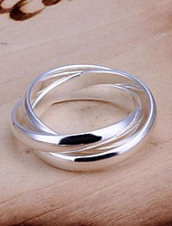 cheap -Personality Fashion Third Ring Road High Quality Copper Plating Ms 925 Silver Ring
