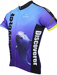 ILPALADINO Cycling Jersey Men's Short Sleeves Bike Jersey Tops Quick Dry Ultraviolet Resistant Breathable Polyester 100% Polyester