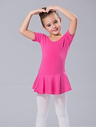 cheap -Kids' Dancewear / Ballet Dresses Women's Spandex Short Sleeves