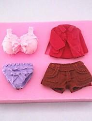 abordables -pantalones de vestir ropa interior de fondant herramientas de decoración de pastel de silicona torta del molde, l8.5cm * * w6.3cm h1.8cm