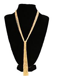 abordables -Mujer Moda Collares de cadena Chapado en Oro Legierung Collares de cadena , Boda Fiesta Diario Casual