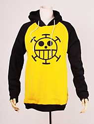 cheap -Inspired by One Piece Trafalgar Law Anime Cosplay Costumes Cosplay Hoodies Print Long Sleeves Top For Male