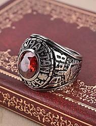 preiswerte -Herrn Rubin / Synthetischer Rubin Kreuz Ring / Statement-Ring - Retro / Freizeit / Geburtssteine Rot Ring Für