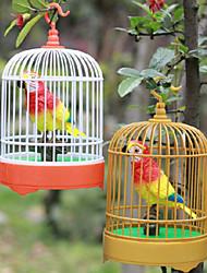 Недорогие -голос-контроль моделирование птиц круглые клетки игрушки (белый, коричневый)