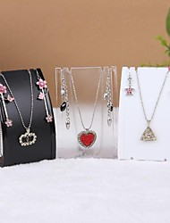 cheap -Fashion Plastic Jewelry Display For Jewelry Set (White,Black,Transparent)(1pc)