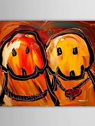 abordables -Peinture à l'huile Hang-peint Peint à la main - Abstrait Contemporain Toile