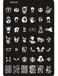 Недорогие -прекрасный ногтей штамповки изображение пластины ногтей шаблон гвоздь трафарет № 9