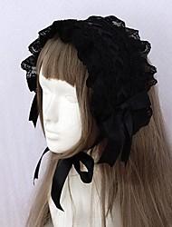Jóias Gótica Decoração de Cabelo Acessórios Lolita Para Renda Cetim