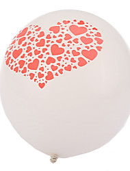 cheap -Extra Large Size White Thick Heart Broken Round Balloons--Set of 24