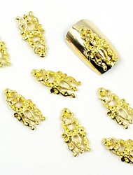 100PCS 3D Gold Nail Jewelry Lovely Totem for False Acrylic Molds Nail Art Decorations