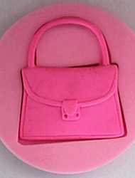 cheap -Handbag Fondant Cake Silicone Mold Cake Decoration Tools,L7cm*W7cm*H1.3cm