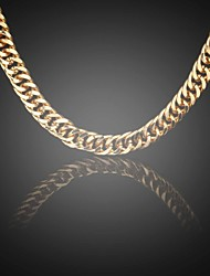 Men's 24K Real Gold Plated Figaro Big Sparsely Link Chains Necklace 10MM 75CM