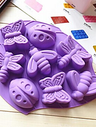 cheap -8 Holes Insect Shape Silicone Material Large Size Cake Mold,Baking Tool