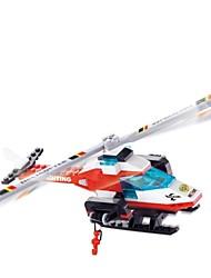 Недорогие -Вертолеты пожаротушения серии 3D DIY пластиковую головоломки монтаж строительных блоков игра игрушка для детей (94 шт)