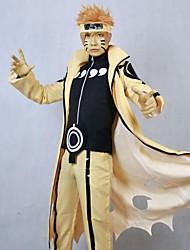 abordables -Inspirado por Naruto Cosplay Animé Disfraces de cosplay Trajes Cosplay Retazos Manga Larga Chaqueta Pantalones Para Hombre