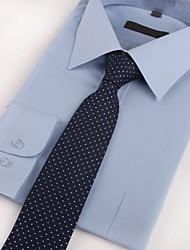 cheap -Men's Polyester Neck Tie,Party Work Casual All Seasons Dark Blue