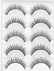 abordables -Cil Faux Cils 10 pcs Dense Naturel Bouclé Fibre Quotidien Longs Naturels - Maquillage Maquillage Quotidien Cosmétique Accessoires de Toilettage