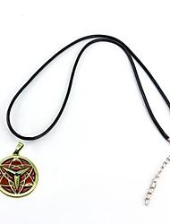 naruto sasuke sharingan Mangekyo eterno colgante de collar de aleación de cosplay