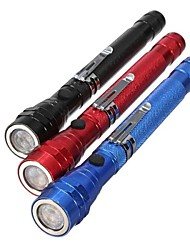 cheap -LED Flashlights / Torch LED 300lm 1 Mode Zoomable / Nonslip grip Everyday Use / Multifunction / Working Black / Red / Blue