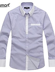 abordables -Lesmart® Men's Cotton Long-sleeved Casual Shirt Stitching