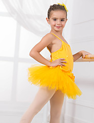 Kids' Dancewear Leotards Children's Training Cotton Bow(s) Appliques Sleeveless