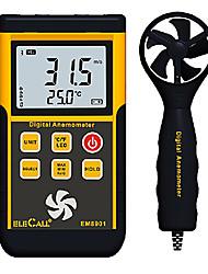 Недорогие -Профессиональный цифровой тип анемометр сплит расходомер воздуха elecall em8901