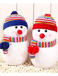 Недорогие -Небольшой размер изысканный снеговик с вязаная шапка кукла подушки Рождественский подарок (1 шт)