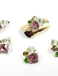 Недорогие -12 цветов новый блеск алмазов наклейки блестеть 3d ломтик порошок украшения набор