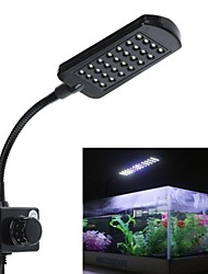 Недорогие -28 привели клип свет aqaurium аквариум белый&синий цвет освещения зажим лампы