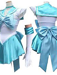 halpa -Innoittamana Sailor Moon Sailor Mercury Anime Cosplay-asut Cosplay Puvut Hihaton Solmio / Leninki / Käsineet Käyttötarkoitus Naisten Halloween-asut / Satiini
