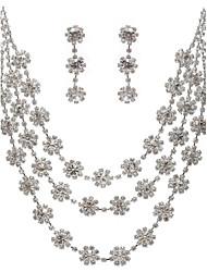 Dame Kvadratisk Zirconium Bryllup Speciel Lejlighed Fødselsdag Forlovelse Kvadratisk Zirconium Legering Øreringe Halskæder