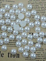 cheap -200PCS White Flatback Semicircle Pearl Gems 10mm Handmade DIY Craft Material/Clothing Accessories