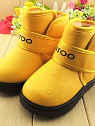 Boys' Girls' Baby Boots Fashion Boots Leatherette Winter Casual Fashion Boots Flat Heel Blue Yellow Green Orange Flat