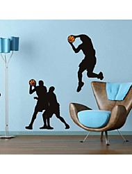 Недорогие -Люди Спорт Наклейки Настенные стикеры для заметок Декоративные наклейки на стены, Винил Украшение дома Наклейка на стену Стена