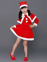 Santa Girl Dress Kids Christmas Costume