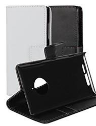 billige -Etui Til Nokia / Nokia Lumia 830 Etui Nokia Lommebok / Kortholder / med stativ Heldekkende etui Ensfarget Hard PU Leather til