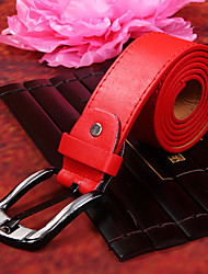cheap -Men's Party/Evening Causal Fashion Groom/Groomsman Red PU Belt