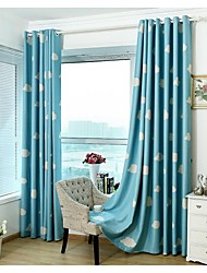 Rod Pocket Grommet Top Tab Top Double Pleated Pencil Pleated Two Panels Curtain Modern Neoclassical Mediterranean European Country ,