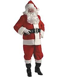 Недорогие -темно-красный костюм Санта взрослых мужчин Рождество костюм